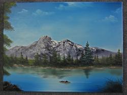 Drawn hill mountain lake
