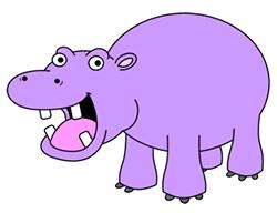 Drawn hippo