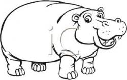 Whit clipart hippo