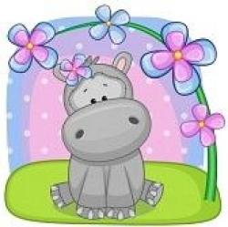 Drawn hippo cute