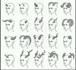 Drawn horns