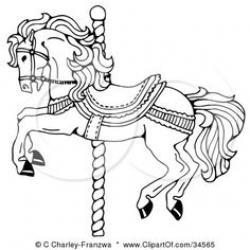 Carousel clipart pole