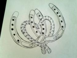 Drawn horseshoe cute