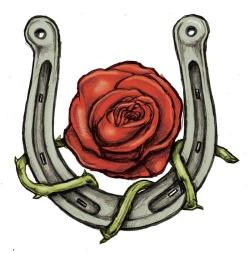 Drawn horseshoe girly