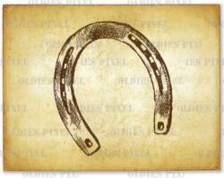 Drawn horseshoe hand