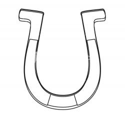 Drawn horseshoe horsesho