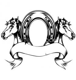 Drawn horseshoe vector
