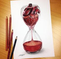 Drawn hourglass