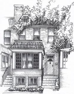 Drawn pice house