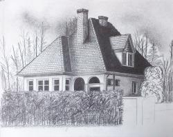 Drawn hosue beautiful house
