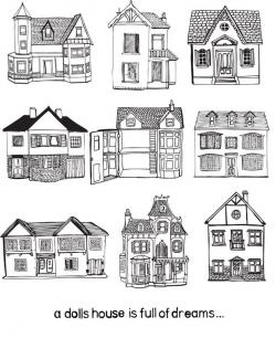 Drawn hosue city house