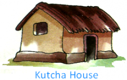 Drawn hosue kutcha house