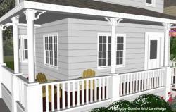 Drawn hosue porch