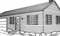 Drawn hosue ranch house