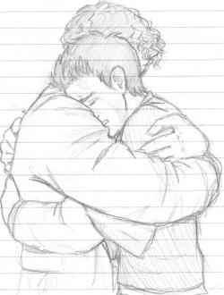 Drawn hug