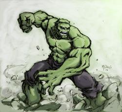 Drawn hulk hulk smash