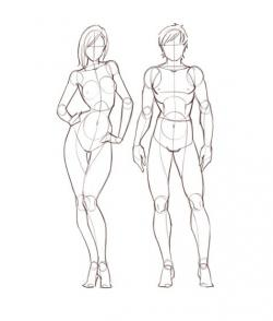 Drawn figurine person
