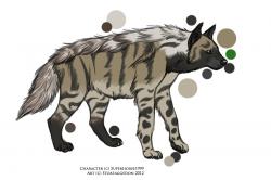 Drawn hyena anime