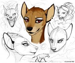 Drawn hyena anthro