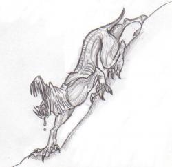 Drawn hyena demon