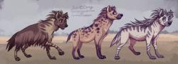 Drawn hyena female