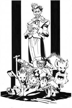 Drawn hyena joker