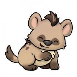 Drawn hyena kawaii