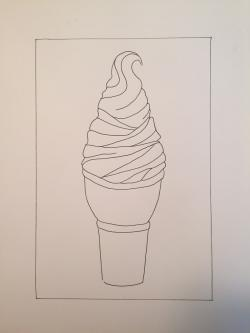 Drawn ice cream