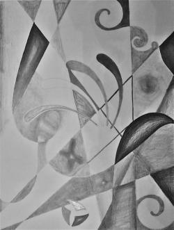 Drawn shapes abstract