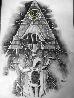 Drawn illuminati art