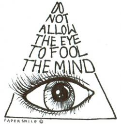 Drawn illuminati background