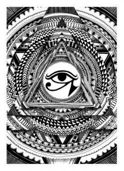 Drawn illuminati egyptian