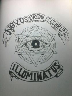 Drawn illuminati sketch