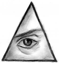 Drawn illuminati triangle
