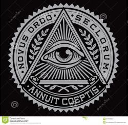 Drawn illuminati vector logo
