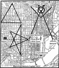 Drawn illuminati washington monument