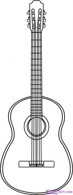 Drawn guitar classical guitar
