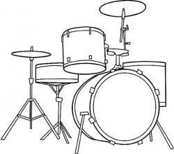 Drawn instrument drum set