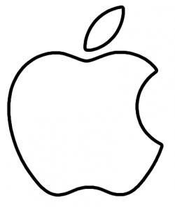 Drawn macbook apple logo