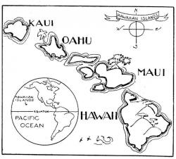 Islet clipart hawaii state
