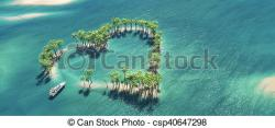 Islet clipart the middle the ocean