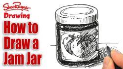 Drawn jam jam jar