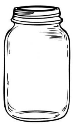 Drawn mason jar simple