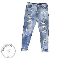 Denim clipart ripped jeans