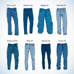 Drawn jeans blue jeans
