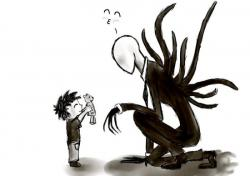 Drawn slender man adorable