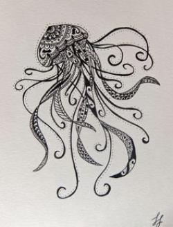 Drawn jellies mandala