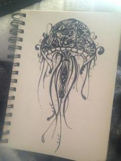 Drawn jellyfish