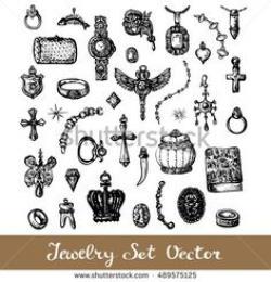 Drawn jewelry doodle