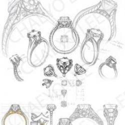 Drawn jewelry jewel